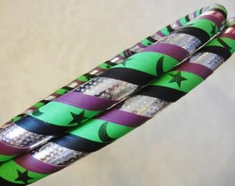 Custom Hoop 'Galactica' - UV/Blacklight Reactive. Made Your Way.