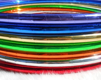 """The 'ULTRASHiNE!' Solid ShiNy 1/2"""" Advanced Performance Hoop - BeSt PriCeD // 80 Color Choices // Free Inside Grip // Affordable Shipping."""