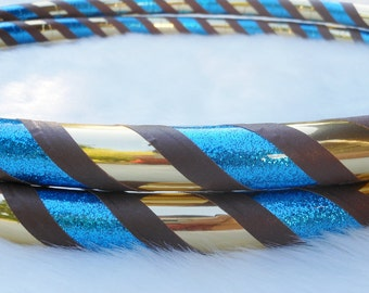 Hula Hoop -  'OCEAN SANDS' Custom Travel Hoola Hoop for Hoop Dance - Made YOUR Way