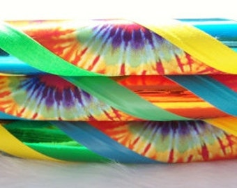 Design Your Own 'HaPPY HiPPiE.' The OriGiNaL Tie Dyed Travel Hoop - Made YOUR Size and Favorite Colors.