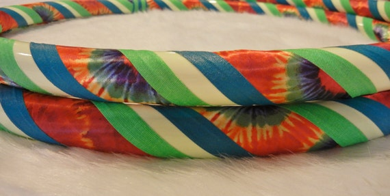 Design Your Own GLoW in The DARK Tie Dyed Hula Hoop - Choose Your Grip Colors - Make it YOUR Way.