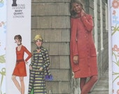 Vintage Sewing Pattern Butterick 5911 Misses Dress Coat Pants and Scarf Young Designer Series Mary Quant of  London Size 14 Bust 36 UNCUT