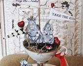 Alice in Wonderland Wedding Cake Topper