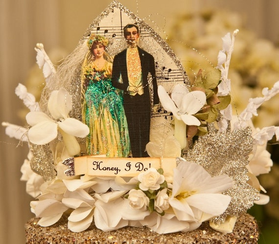 2010 Honey I Do Crown Wedding Topper CUSTOM FOR SARAH