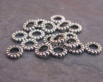 10mm Large Hole Pewter Spacer Beads(20)