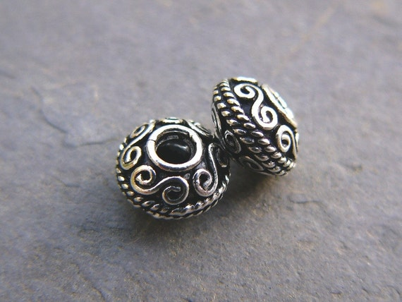 Sterling Silver Balinese Beads (2)