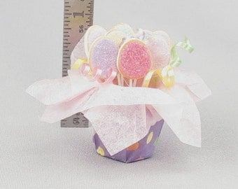 Dollhouse Miniature Easter Sugar Cookie Bouquet