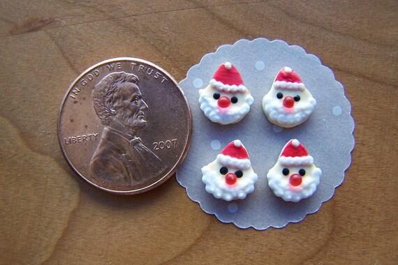 Dollhouse Miniature 4 Loose Santa Christmas Cookies