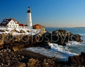 Portland Head Light, Maine Lighthouse - signed by artist original Fine Art photograph