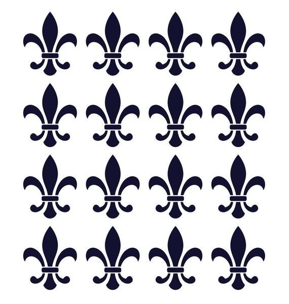 Fleur De Lis Decals Vinyl Wall Stickers Set Of 16