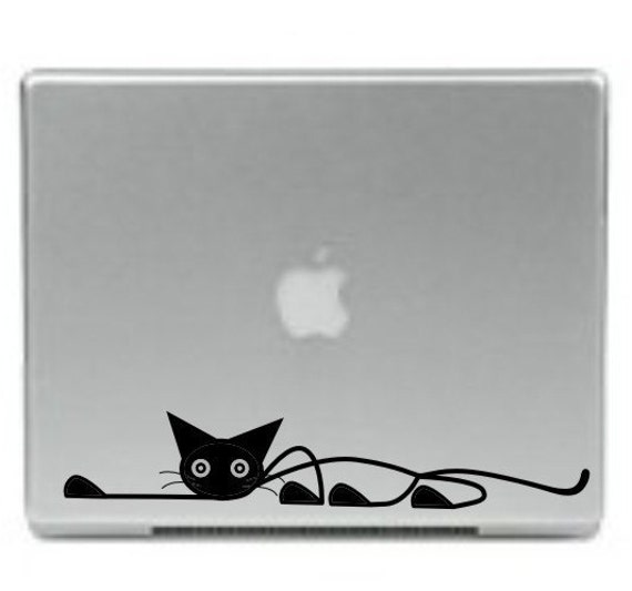 Creeping Cat Laptop Decal