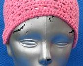 Crochet Handmade Headband Dreadband in a pinkish color
