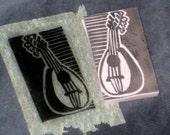 Hand carved stamp - mandolin