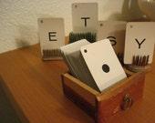 Vintage Letter Cards Set of 96 Nice Aged Patina