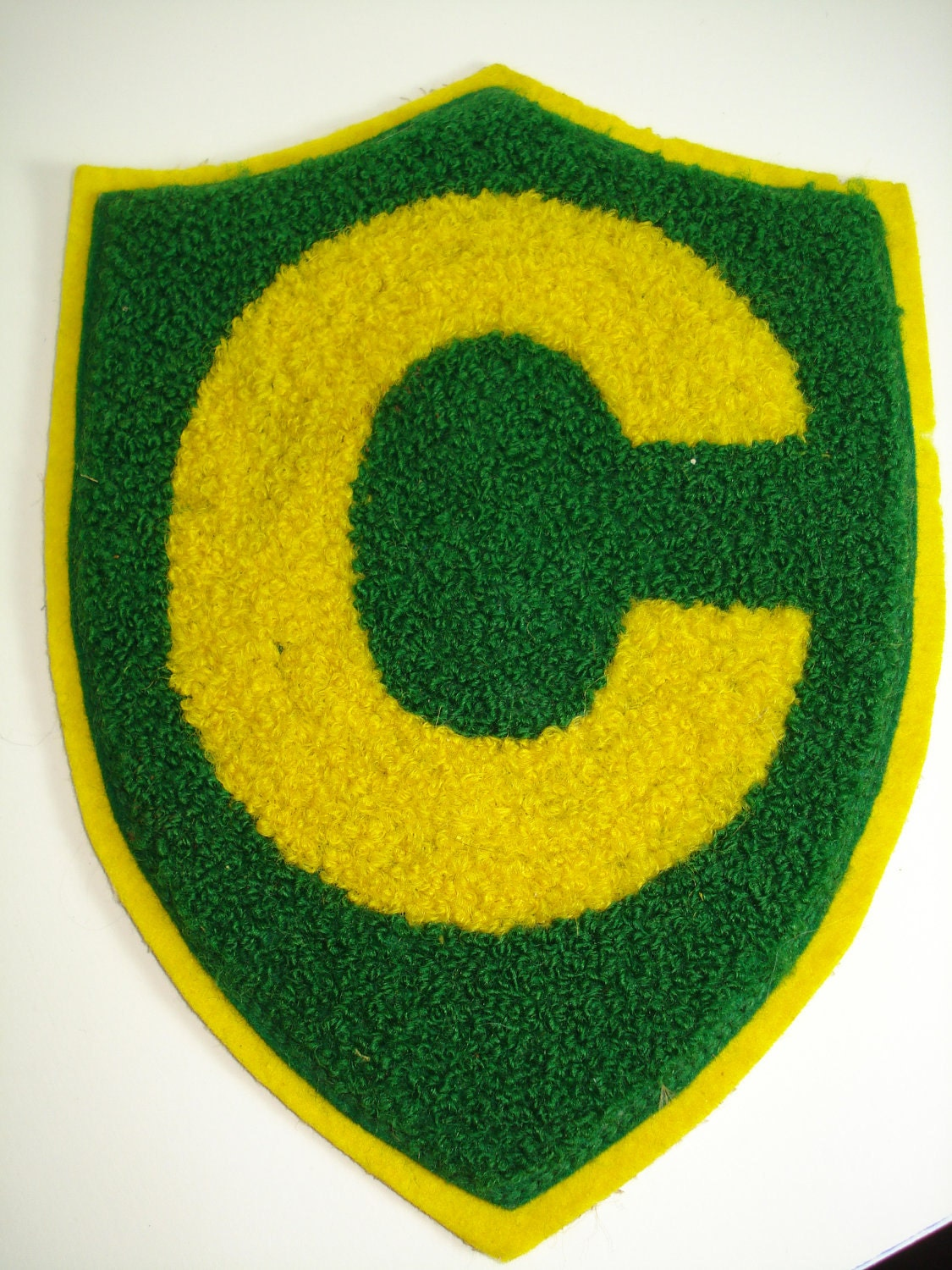 Vintage Letterman Letter Green and Yellow Letter C by ...