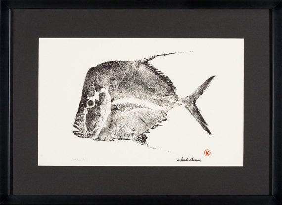 This is a premium quality, signed, limited edition print of a Lookdown fish S7-19