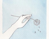 Fly Away - Original Watercolor