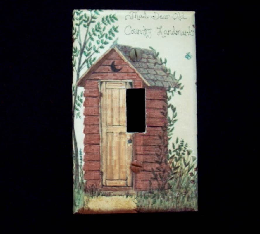 Bathroom Light Switch Plate Cover With By Cathyscraftycovers