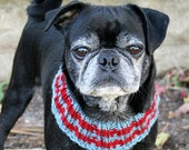 Custom Snuggly Dog Neck Warmer - Dog Scarf - Dog Clothing - Pug Scarf - French Bulldog Clothing