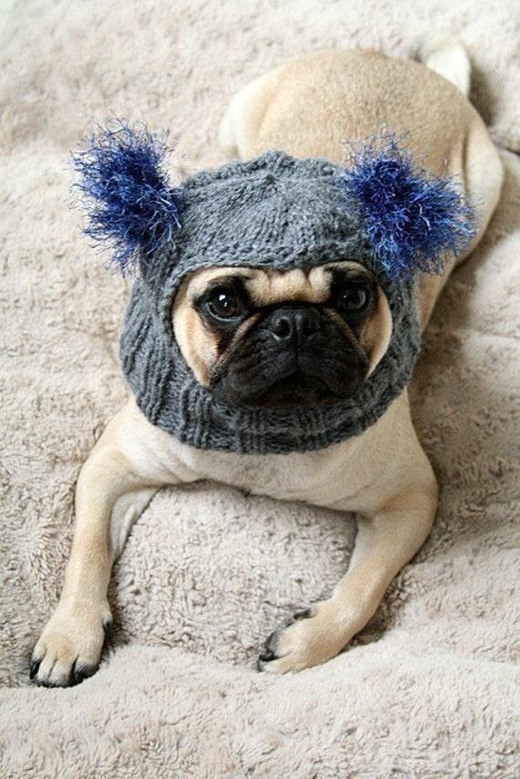 Custom Snuggly Pug Alien Hat