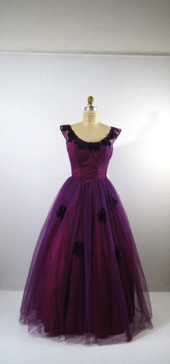 Reserved vintage 1950s Sweeping Lilac Party Prom Dress