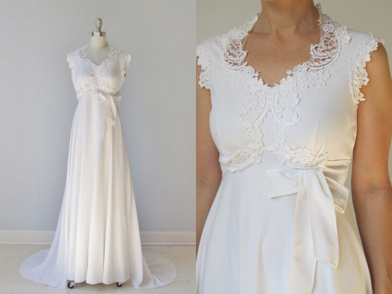 Wedding Dress Maxi Wedding Dress Draped By TheVintageMistress