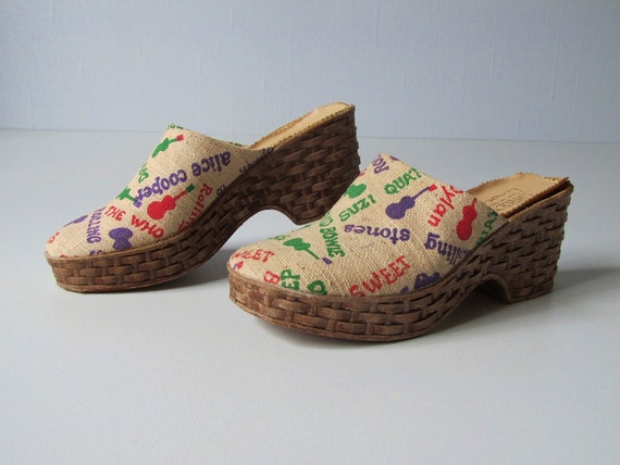 RESERVED vintage Clogs / 1970s Clogs / 1970s Bands / Rockers