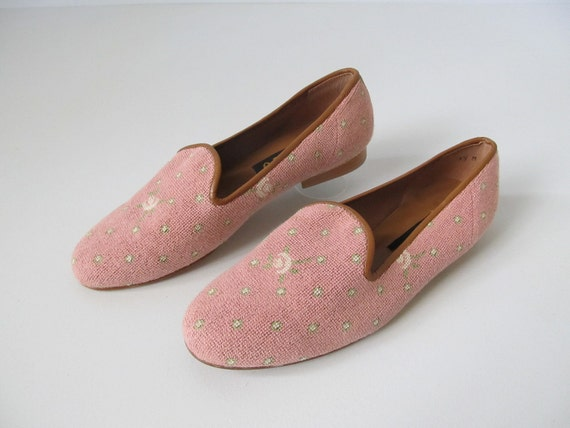 vintage Zalo Shoes / Slip On Shoes / Flats / Pink Flats