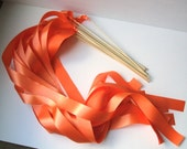 Instead of Rice Jumbo Bamboo Ribbon Streamer Sticks..PACK OF 50...You choose the Ribbon Color..shown in orange