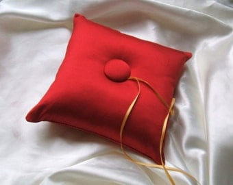 Simple Tufted Dupioni Silk Ring Bearer Pillow...You Choose the Silk Colors....Buy One Get One HALF OFF
