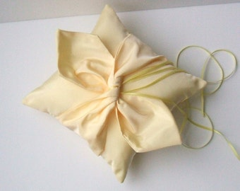 Knottie Ring Bearer Pillow...You Choose the Colors....Buy One Get One HALF OFF..shown in butter yellow/yellow