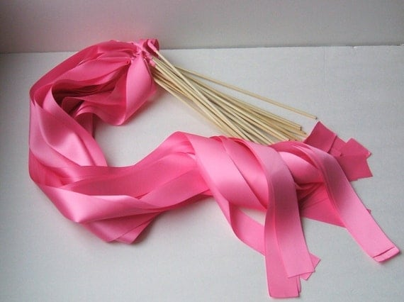 Instead of Rice Jumbo Ribbon Streamer Sticks..PACK OF 50...You choose the Ribbon Color..shown in doll pink