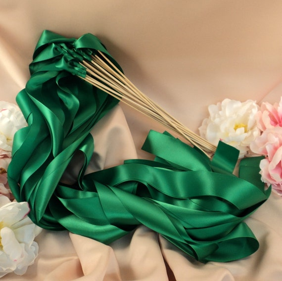 Instead of Rice Jumbo Ribbon Streamer Sticks..PACK OF 50...You choose the Ribbon Color..shown in emerald green