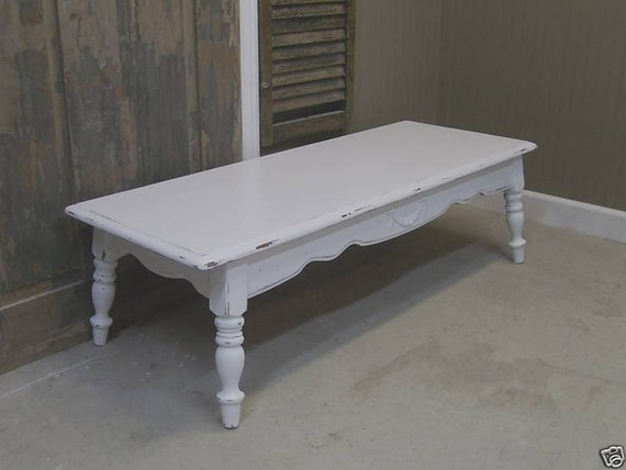 Shabby Cottage White Vintage Coffee Table Chic