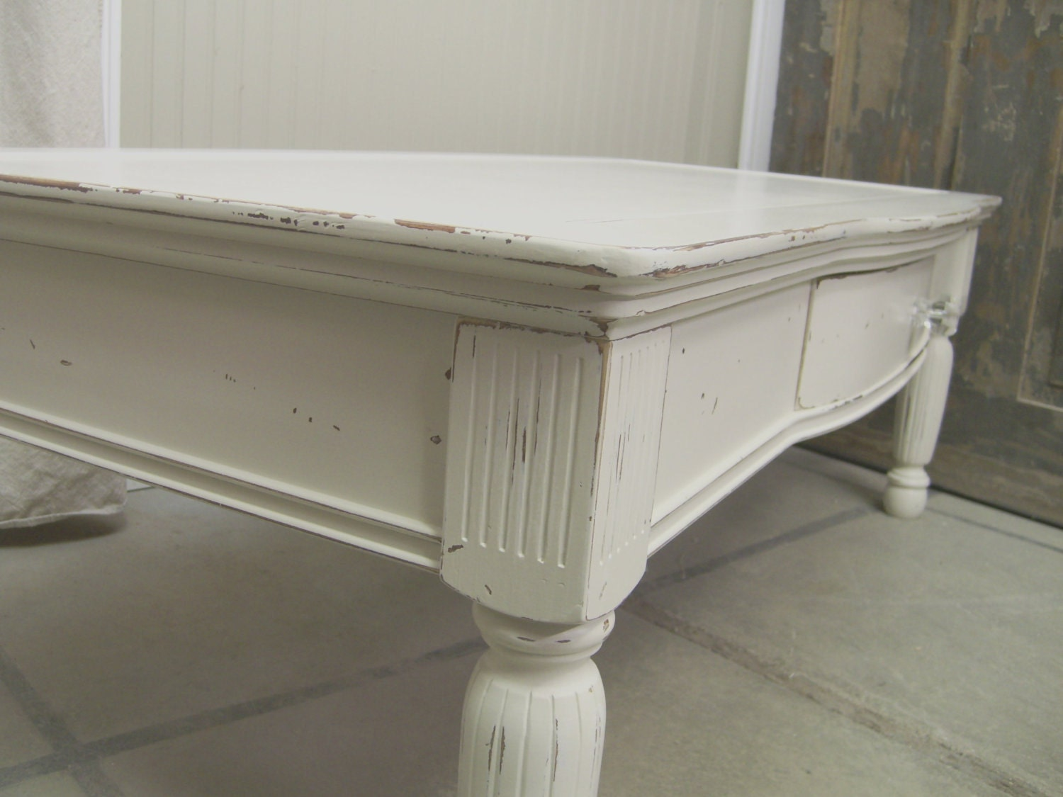Shabby White Cottage Coffee Table Chic By Ashtonluluvintage