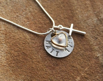 Mustard Seed FAITH Scripture Hand Stamped Sterling Silver Necklace