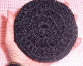 Nylon Scrubbies - SUPER SIZE - Black - Set of Two