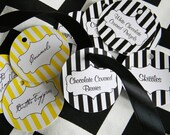 Candy Bar / Buffet Tags (Round) YOU DESIGN