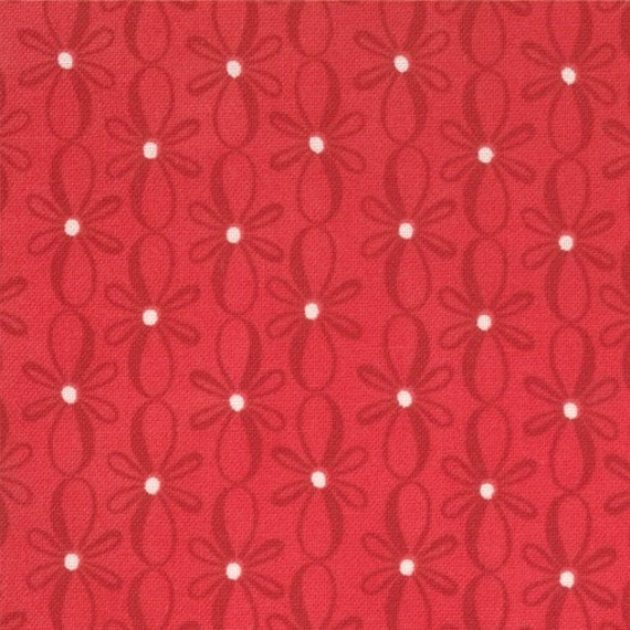 12 Days of Christmas - Bows in Berry - SKU 27026-12 - by Kate Spain for Moda Fabric - 1 Yard