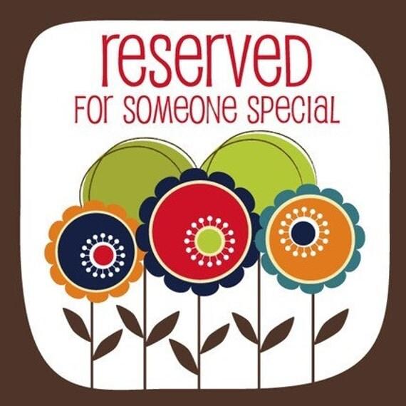 Reserved Listing for ringenjl -  Make Life