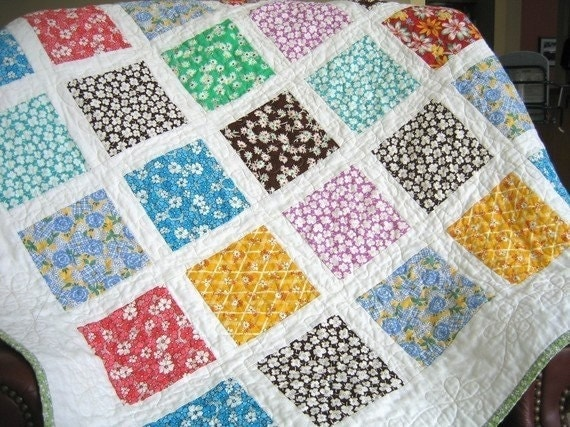 Custom Quilt Kit Choose Any Fabric French Window Panes
