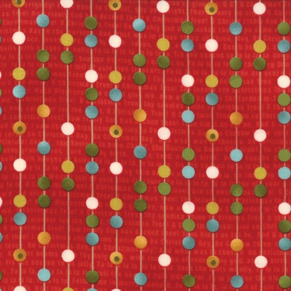 Jovial - Naughty Stripe in Pajamas Red - SKU 30267 17 - by Basic Grey for Moda Fabric - 1 Yard