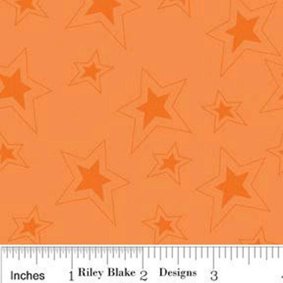 Fox Trails - Stars in Orange - SKU C2685 - by Doohikey Designs for Riley Blake - 1 Yard