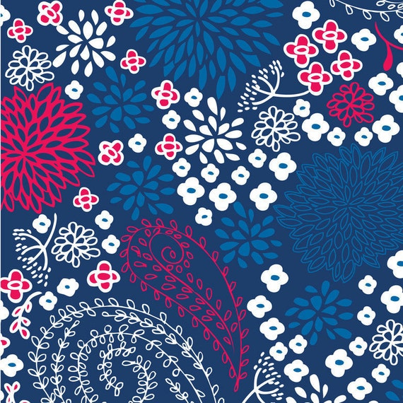 Vintage Summer - Paisley in Navy - SKU 106.102.01.1 - by Little Yellow Bicycle for Blend Fabrics - 1 Yard