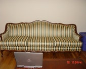 Victorian Antique Solid Wood Sofa and Chair (imported silk reuphostry)