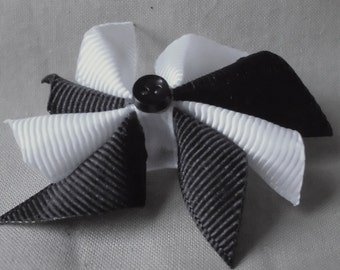 Black and White Doll Hair Bow