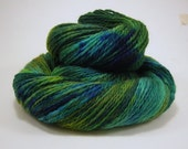Peacock - hand painted 100% Peruvian Highland Wool yarn - 230 yards - fingering weight