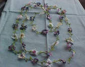 Tatted Necklace of 40 Flowers by Dove Country Tatting