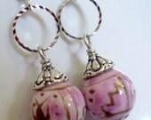 Ceramic Pink Earrings