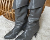 Vintate Real Leather Gray Boots Size 8m